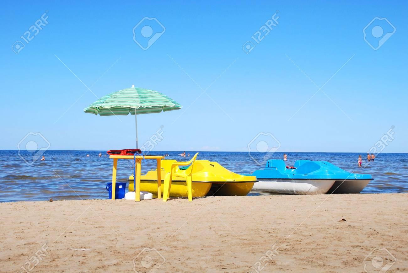 Rest on coast of gulf of Riga in Jurmala - 3397768