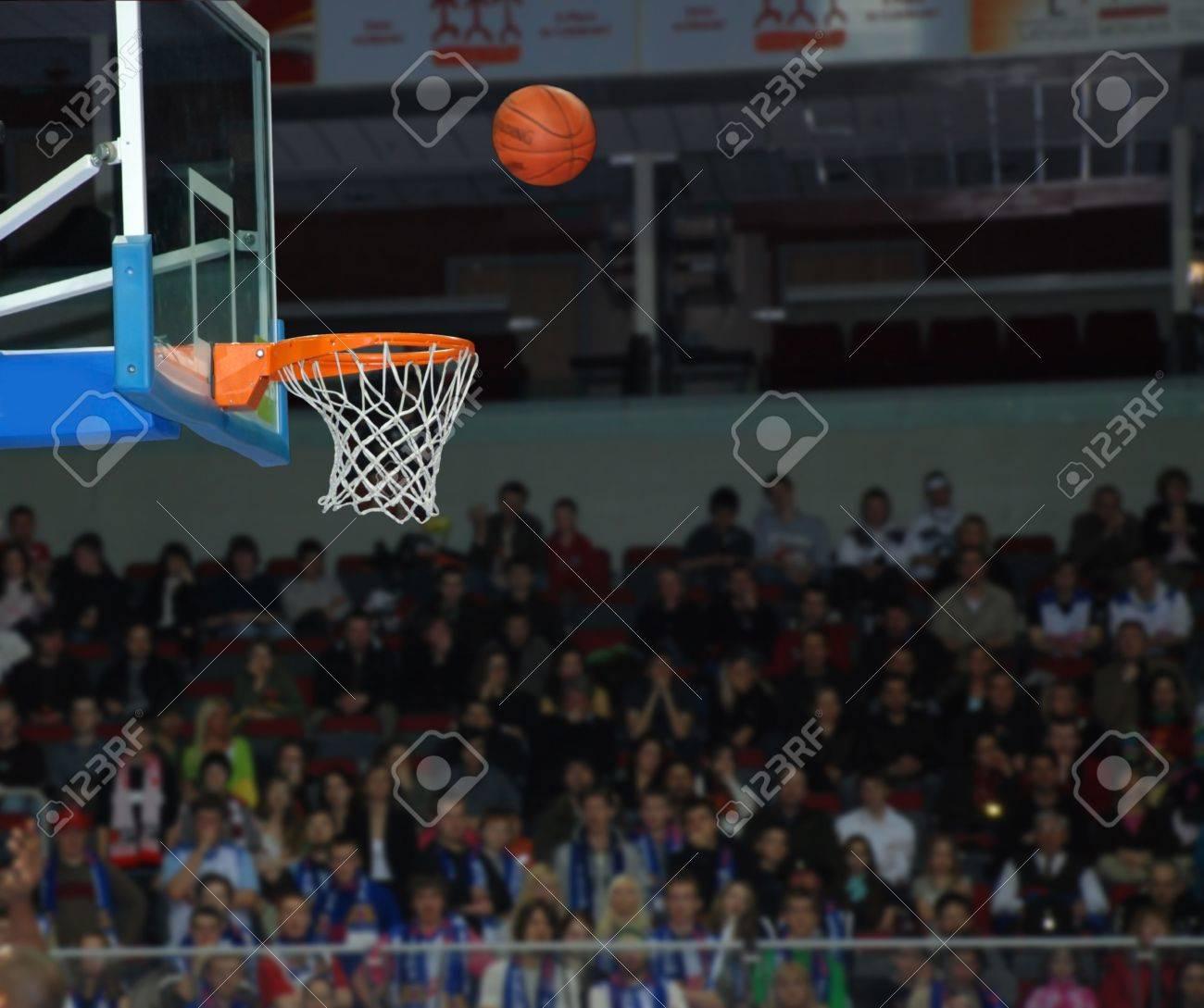 Basketball, exact throw of a ball in a basket - 5787204