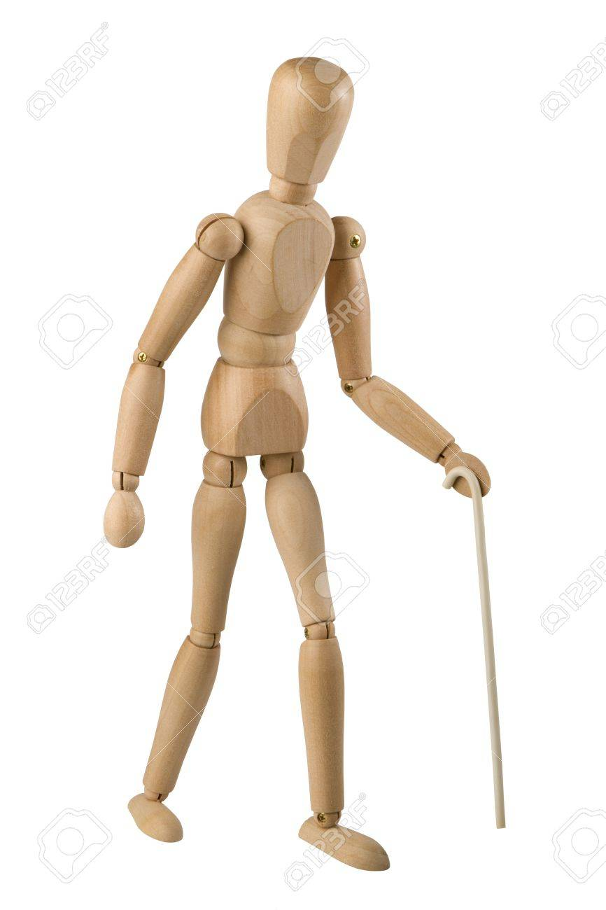 Wooden toy man symbolism of blind man walking with a white cane wooden toy man symbolism of blind man walking with a white cane stock photo biocorpaavc Image collections
