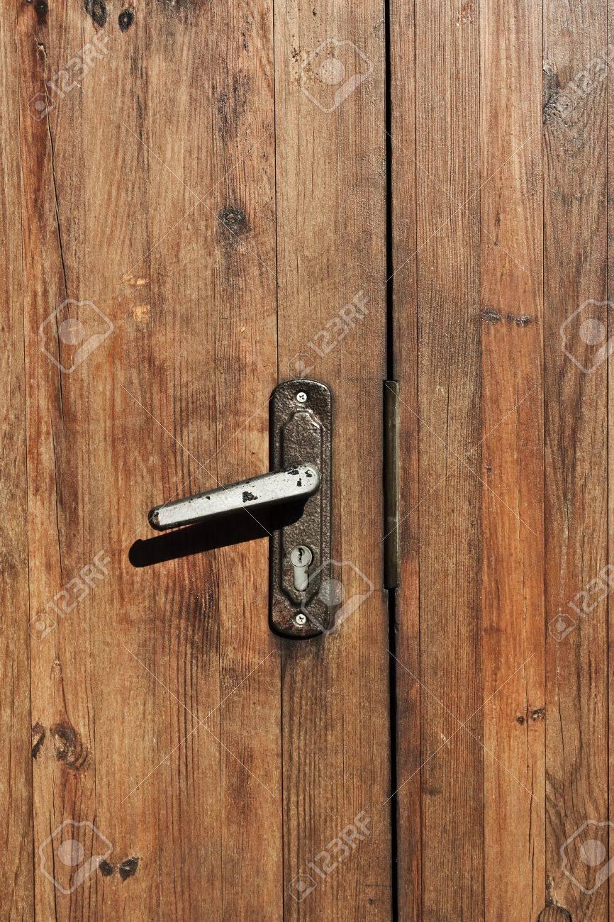 vintage brown wooden door close-up Stock Photo - 7832973