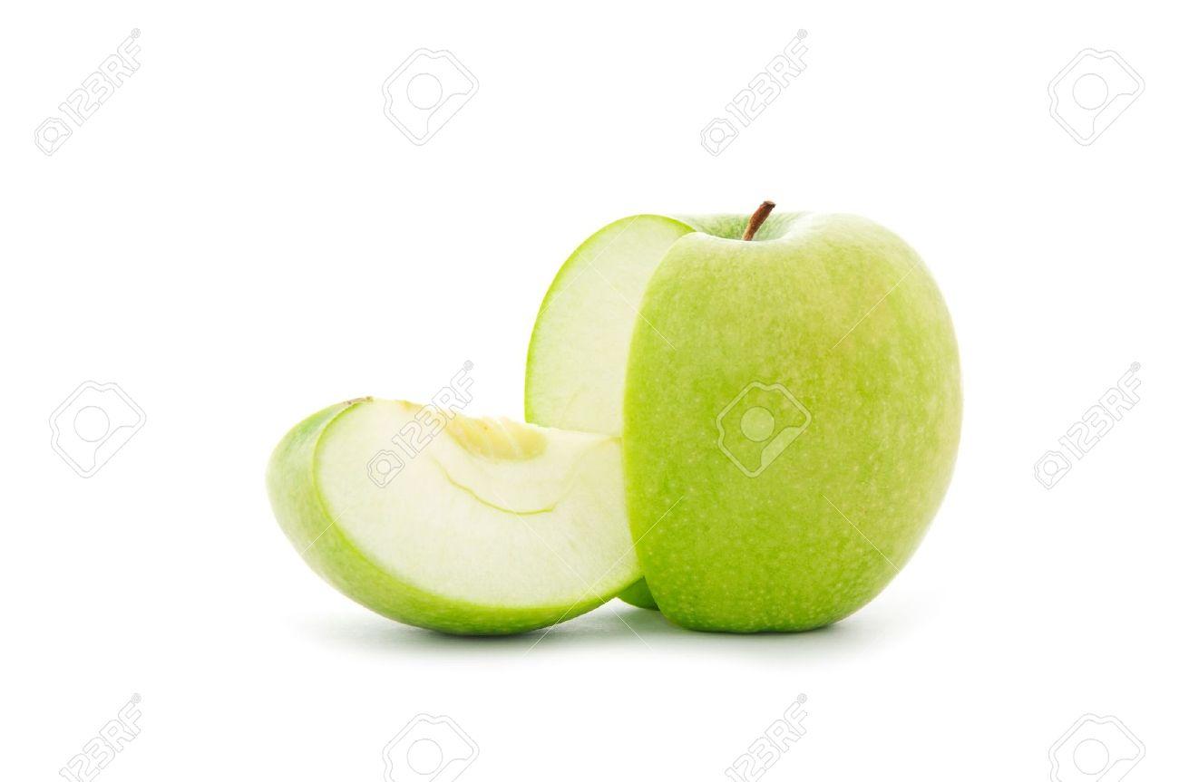 Sliced Green Apples