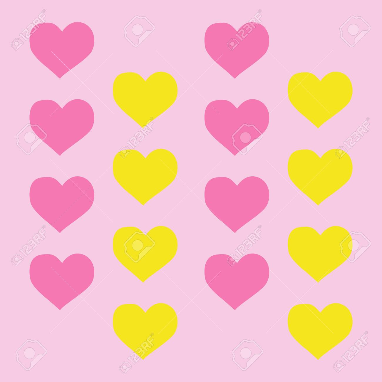 Lovely Heart Wallpaper Heart Shapes In Different Colors For Valentines Day Background