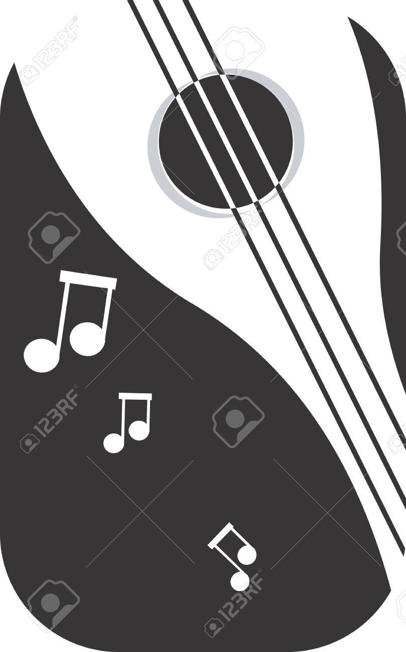 Illustration of a symbol of violin and music notes Stock Photo - 2901056