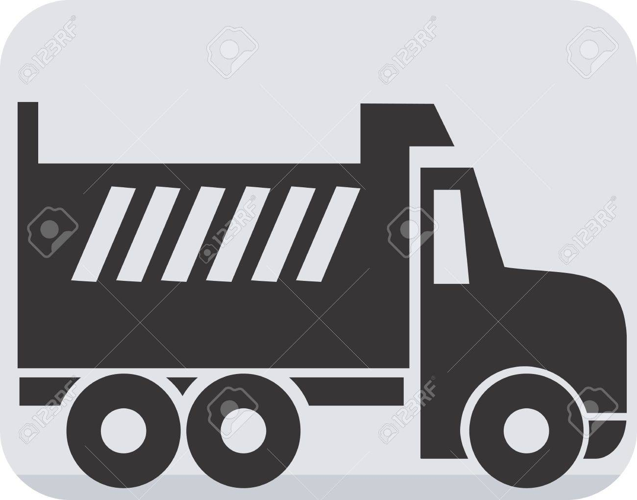 Illustration Of A Symbol Of Truck Carrier Stock Photo Picture And