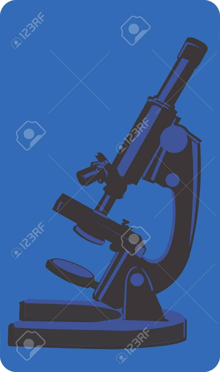 Illustration of a symbol of microscope Stock Illustration - 3013577