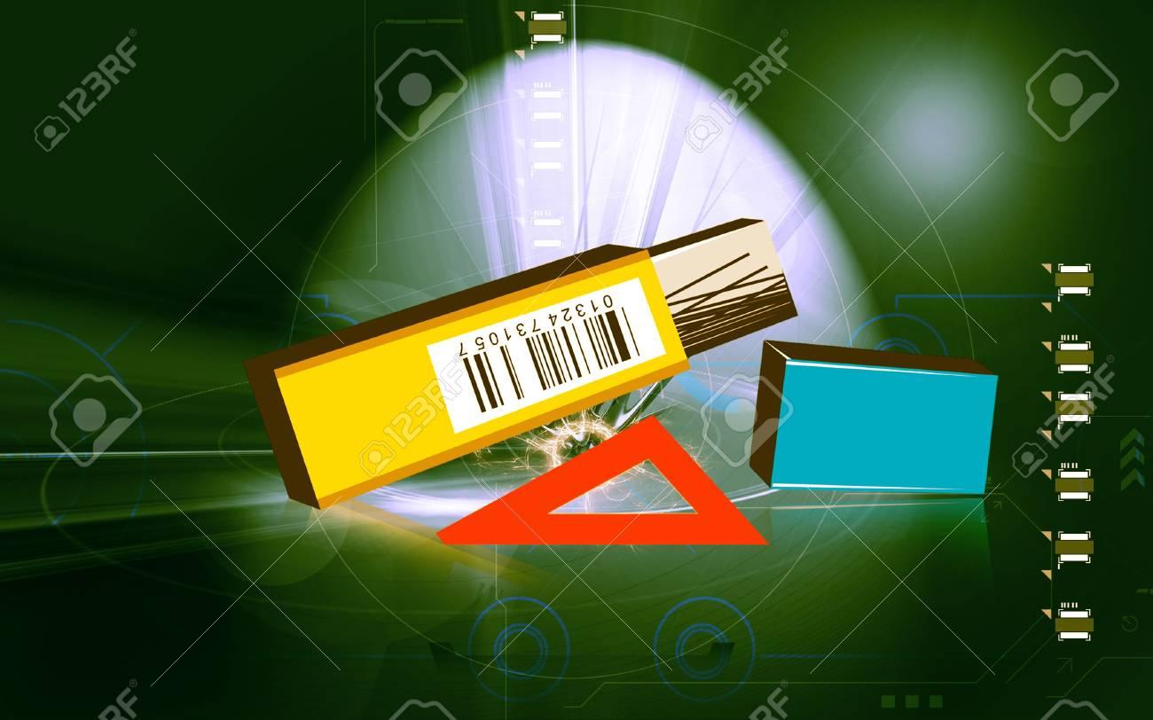 Illustration of pen drive Stock Photo - 6489402