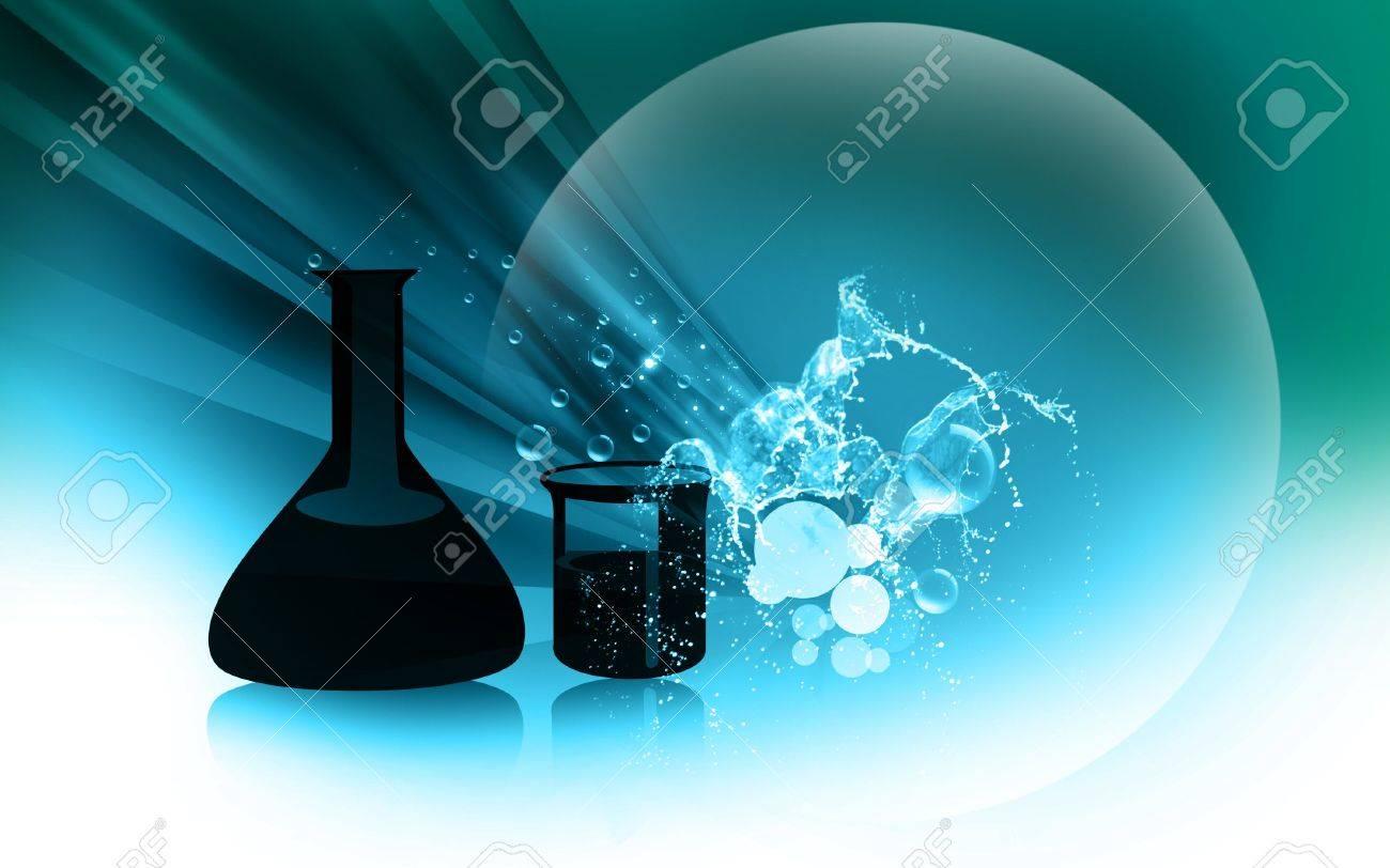 Illustration of glassware in colour Stock Illustration - 6489429