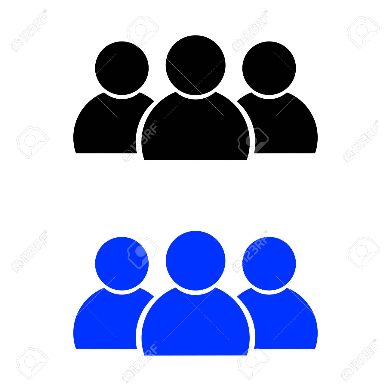 people icon vector illustration black and blue color royalty free rh 123rf com  people icon vector free