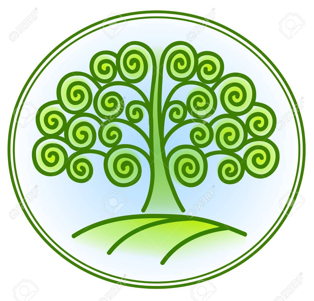 nature and environment icon with tree Stock Vector - 18826516
