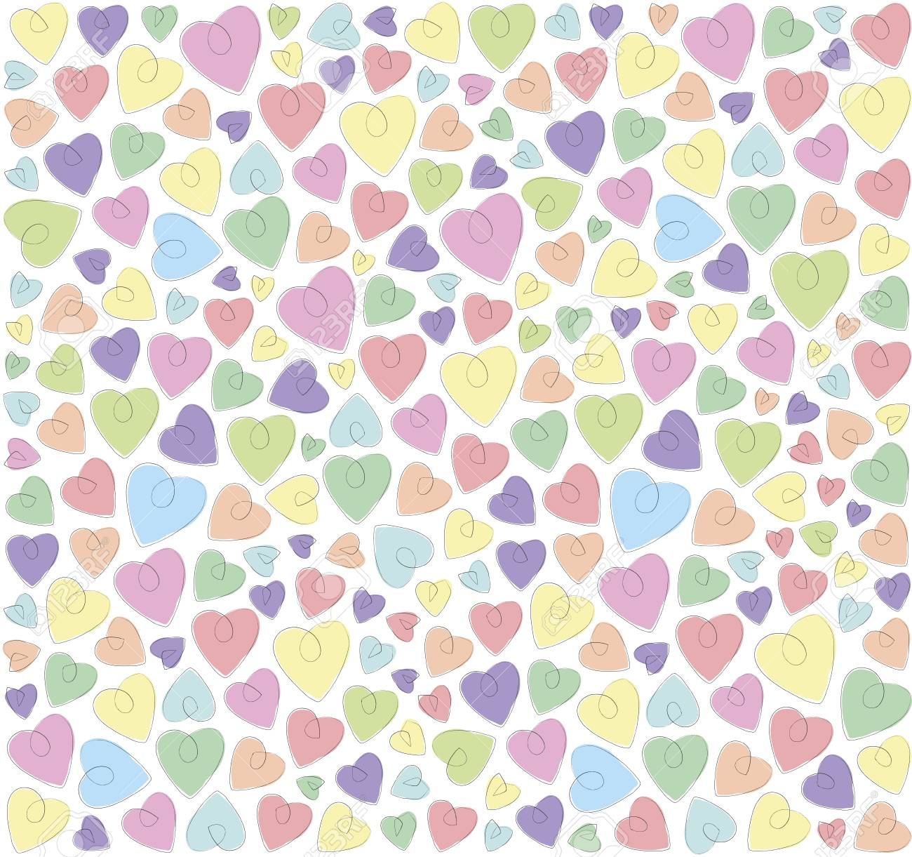 hearts on a white background Stock Vector - 18826927