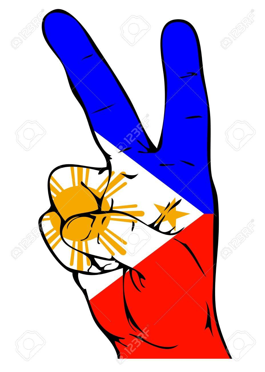 Peace sign of the philippine flag royalty free cliparts vectors peace sign of the philippine flag stock vector 22121644 biocorpaavc Choice Image