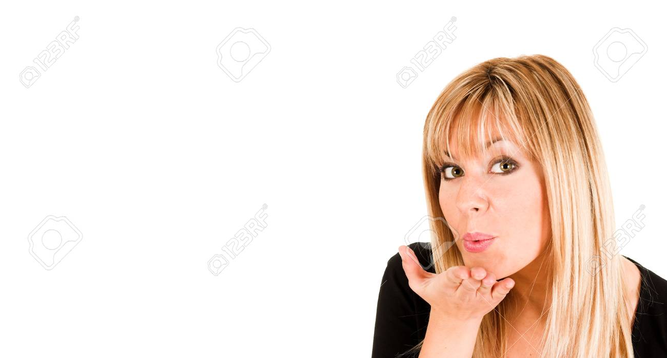 young girl sending a kiss Stock Photo - 1678156