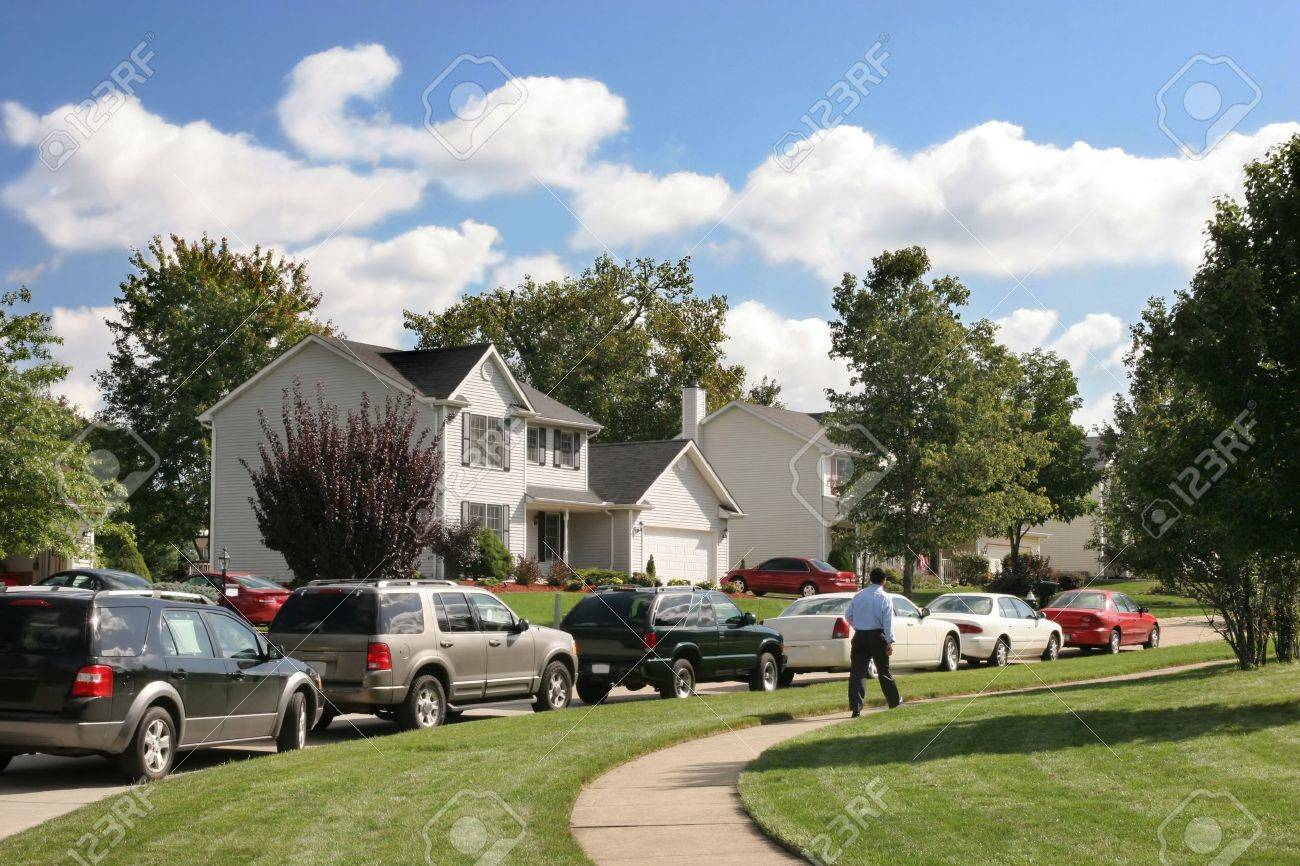 Friendly neighborhood, details beautiful  houses Stock Photo - 2028812