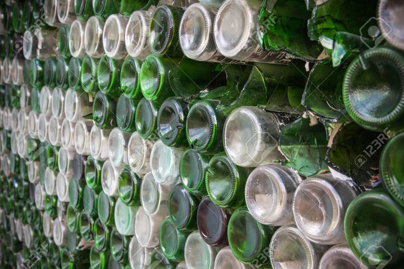 Bottom Of The Bottle Texture. Glass,Dirty Empty Wine Bottles.. Stock ...