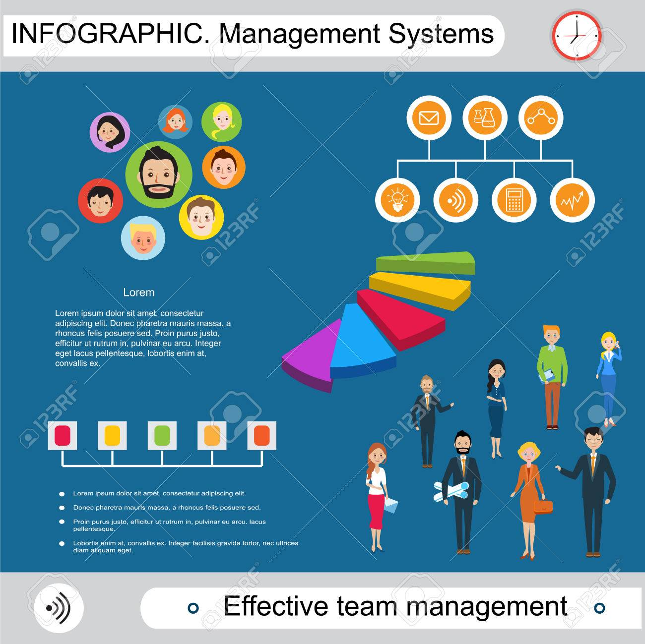 Modern Infographics Management And Control System Demonstration Royalty Free Cliparts Vectors And Stock Illustration Image 53652932