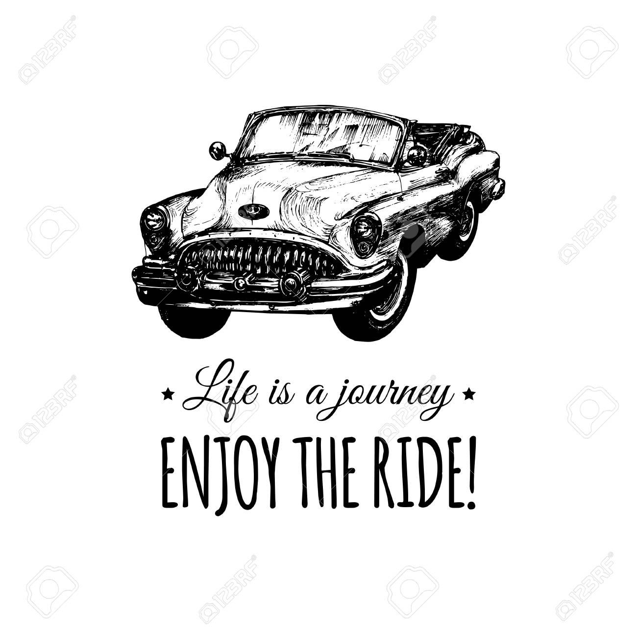 人生は旅乗るベクトル活版印刷のポスターをお楽しみください手は