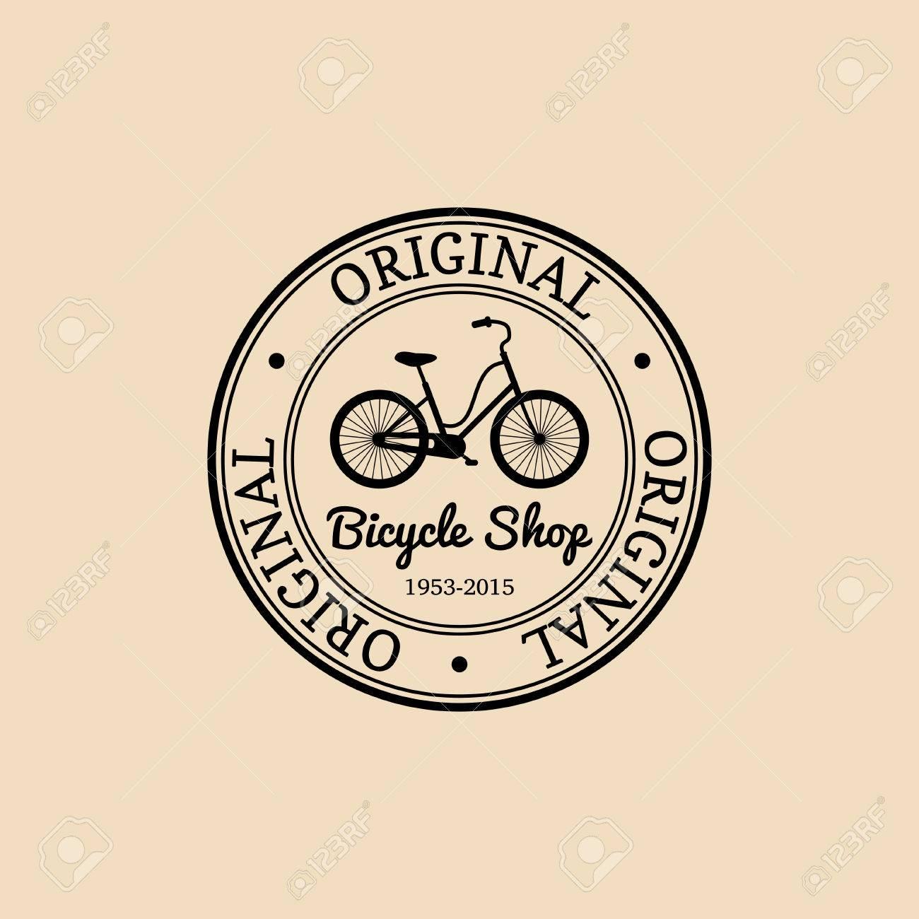 vector vintage hipster bicycle logo modern velocipede emblem