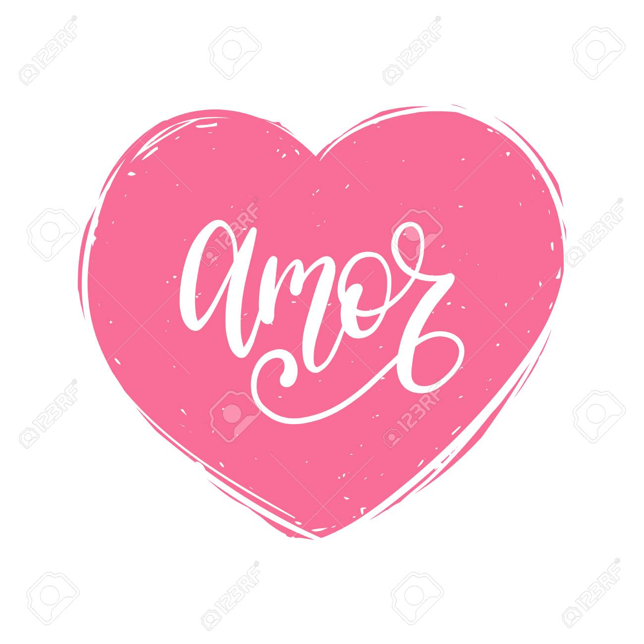 Vector Amor Caligrafia Traduccion Espanola De Frase De Amor Letras