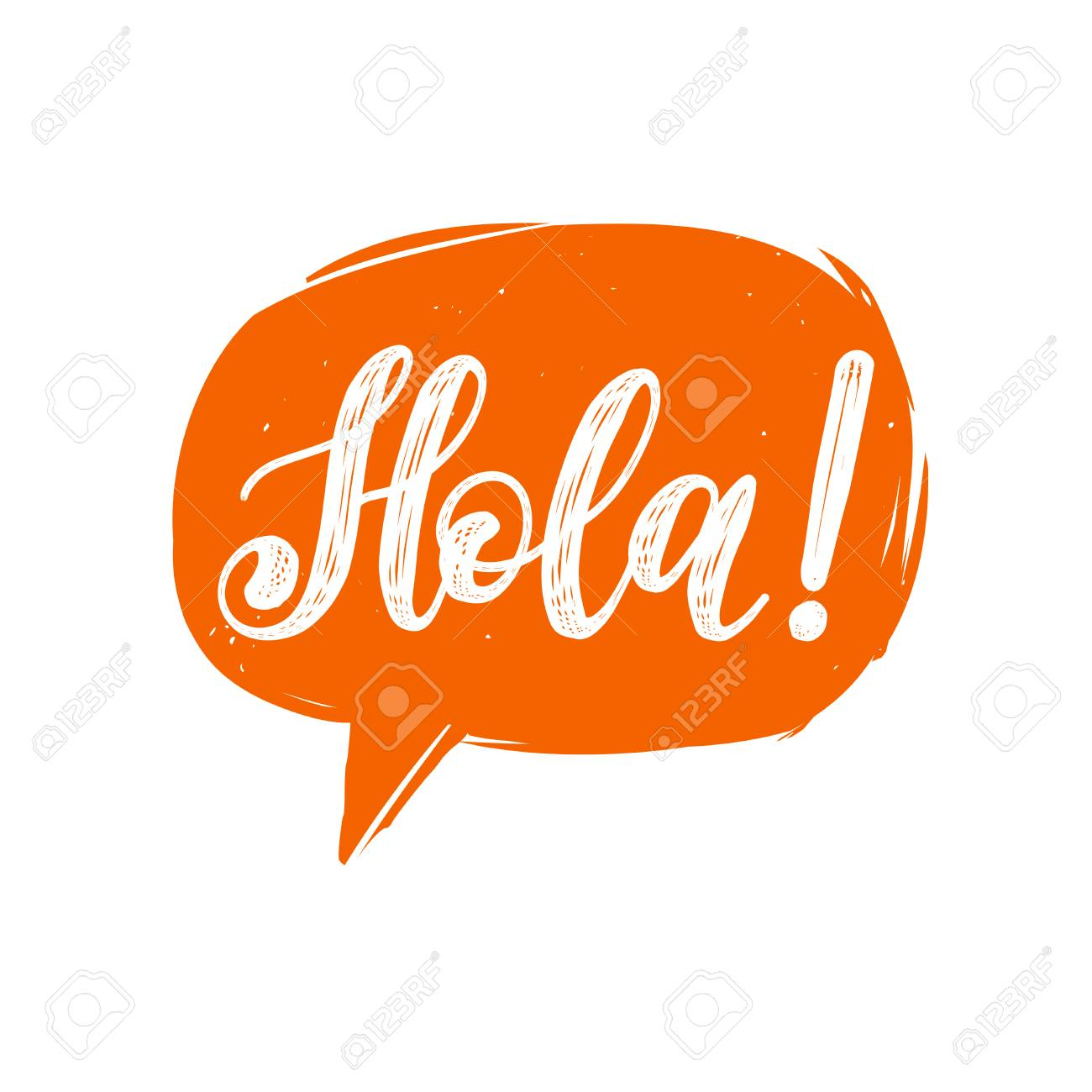 hola hand lettering phrase in speech bubble royalty free cliparts rh 123rf com holi cliparts hula hoop clipart