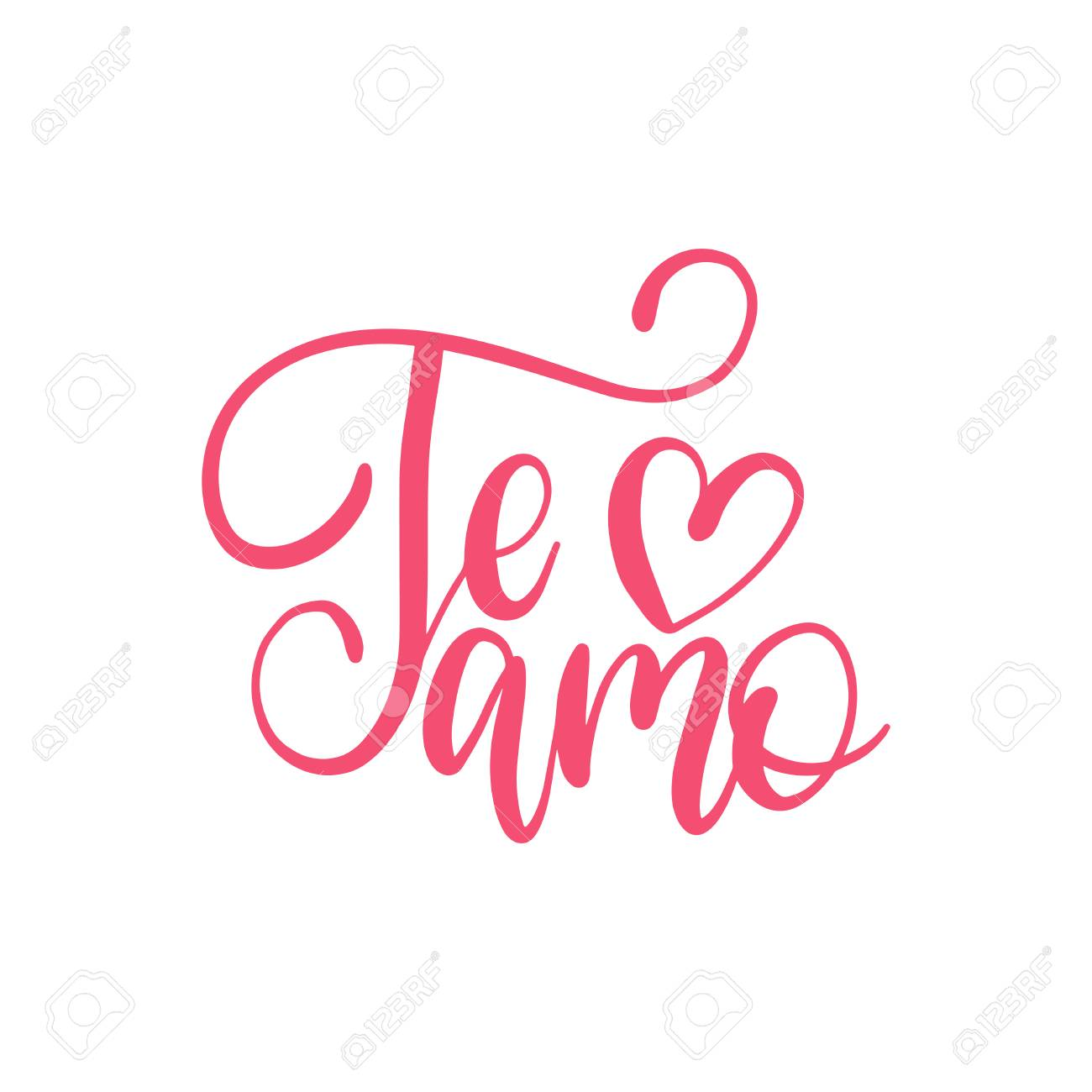Te Amo Translated From Spanish I Love You Hand Lettering