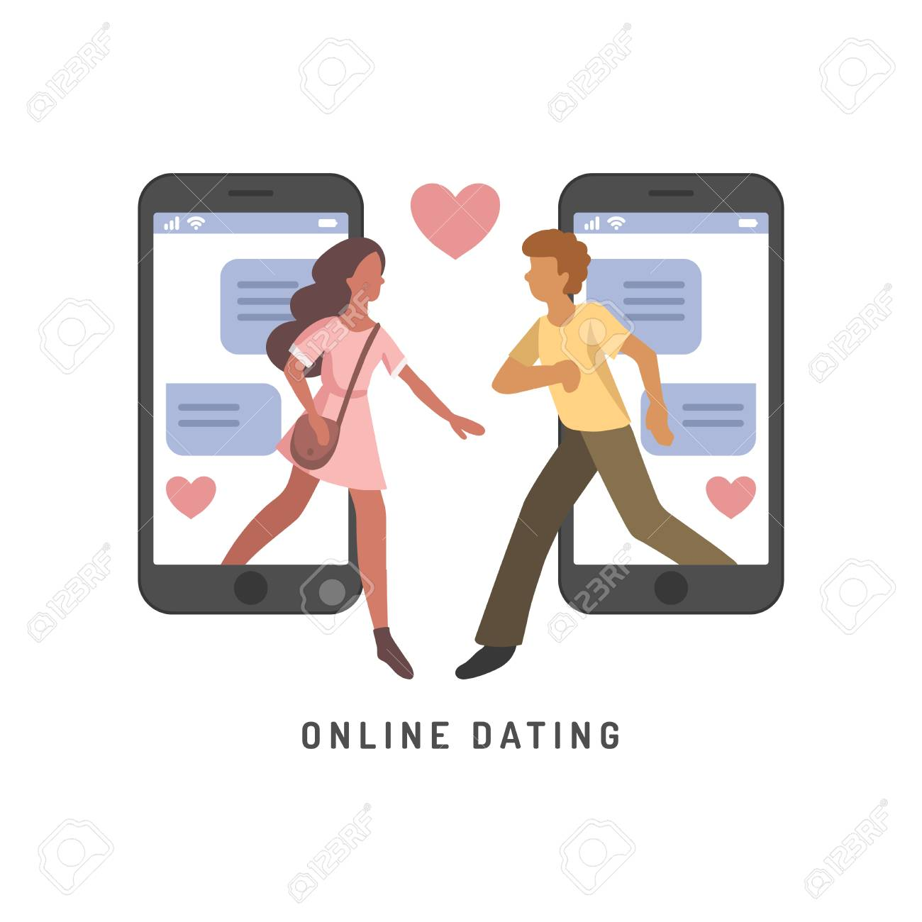 Online dating infographics