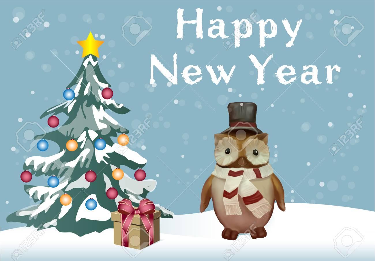 Vektorillustration Für Feiertag (guten Rutsch Ins Neue Jahr Und ...