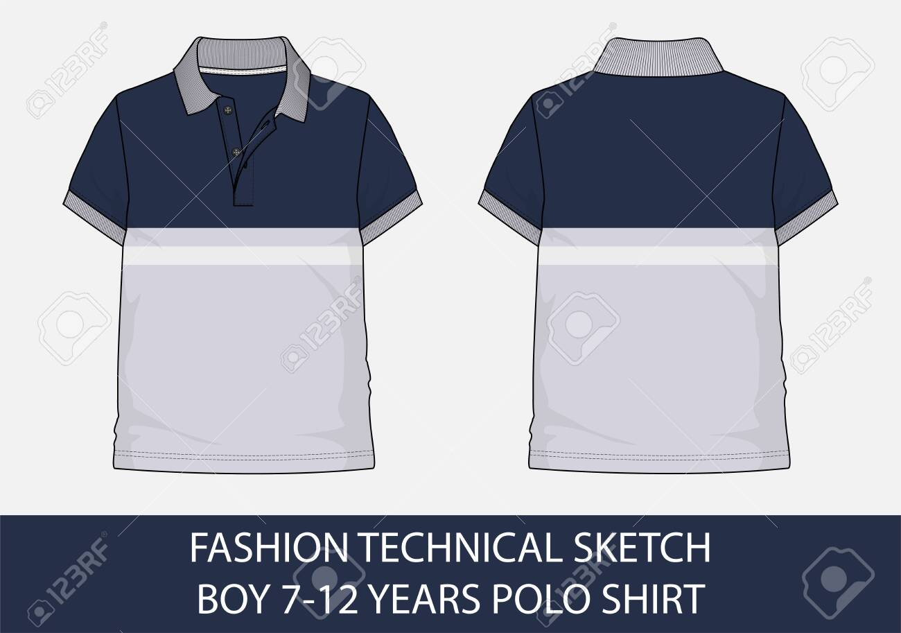 White Polo Shirt Design Template For Men Stock Illustration - Download  Image Now - iStock