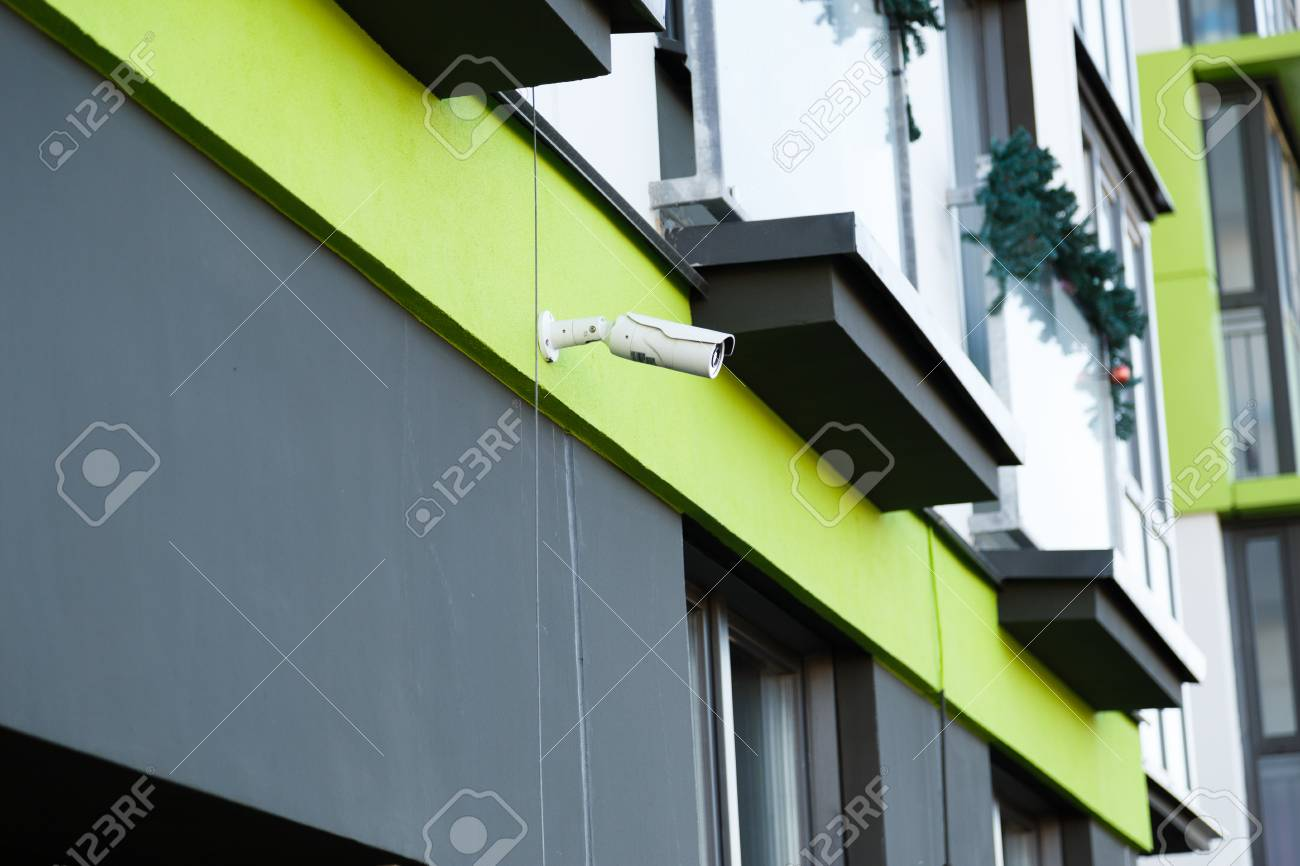 Security Camera Surveillance System Outdoor Of House. Stock Photo    101171688