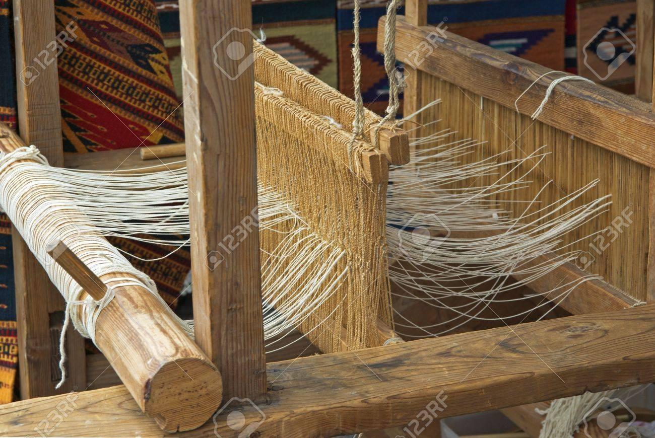 Native American wooden loom Stock Photo - 1798128