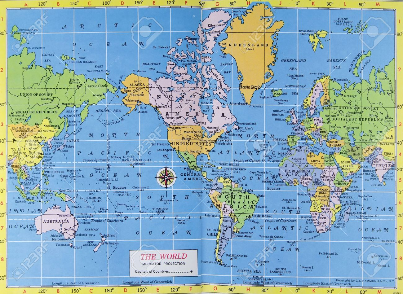 Vintage map of the world mercator projection stock photo picture vintage map of the world mercator projection stock photo 2816587 sciox Choice Image