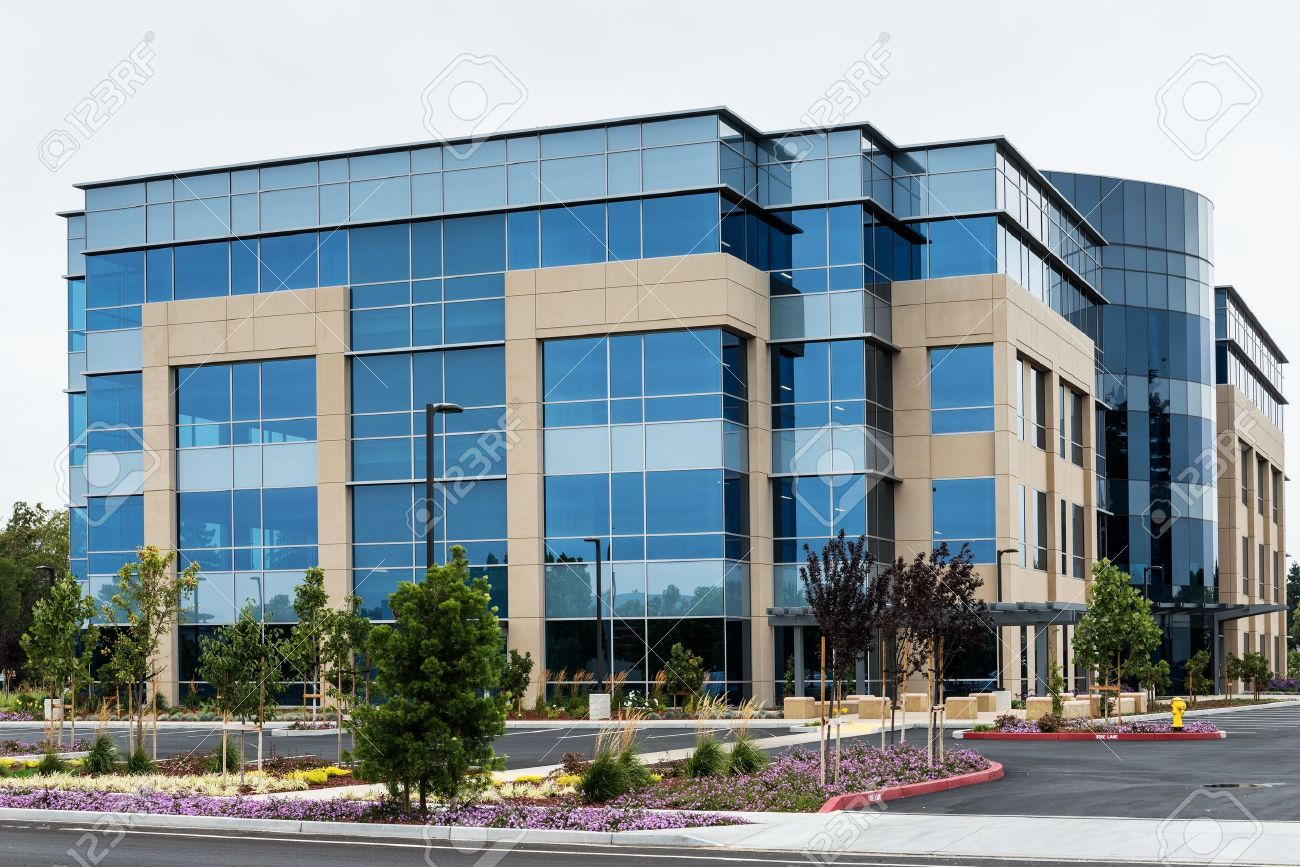 Modern Office Building In Silicon Valley, California Stock Photo ...