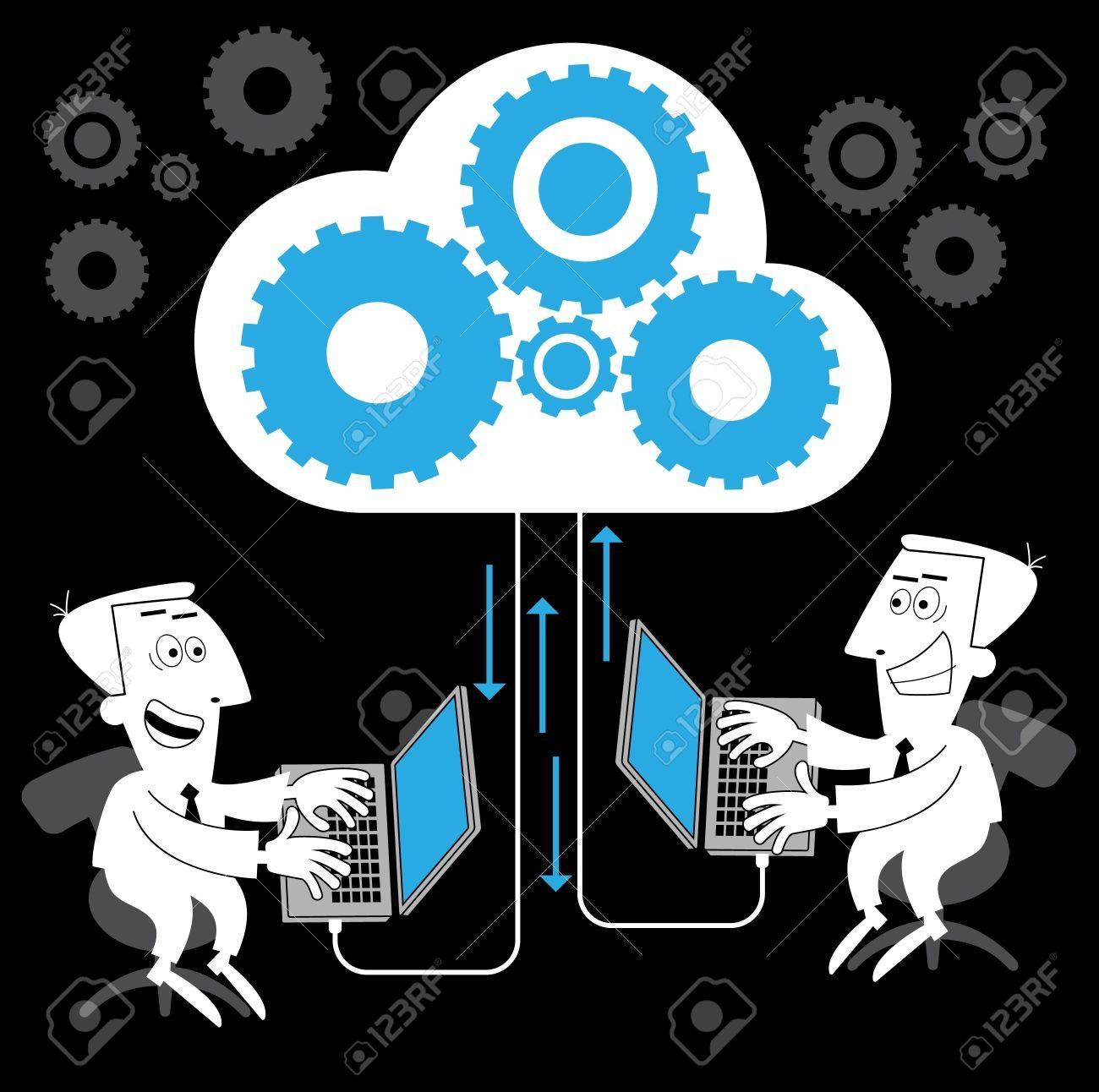 communication-person.Cartoon communication concept Stock Vector - 11961231