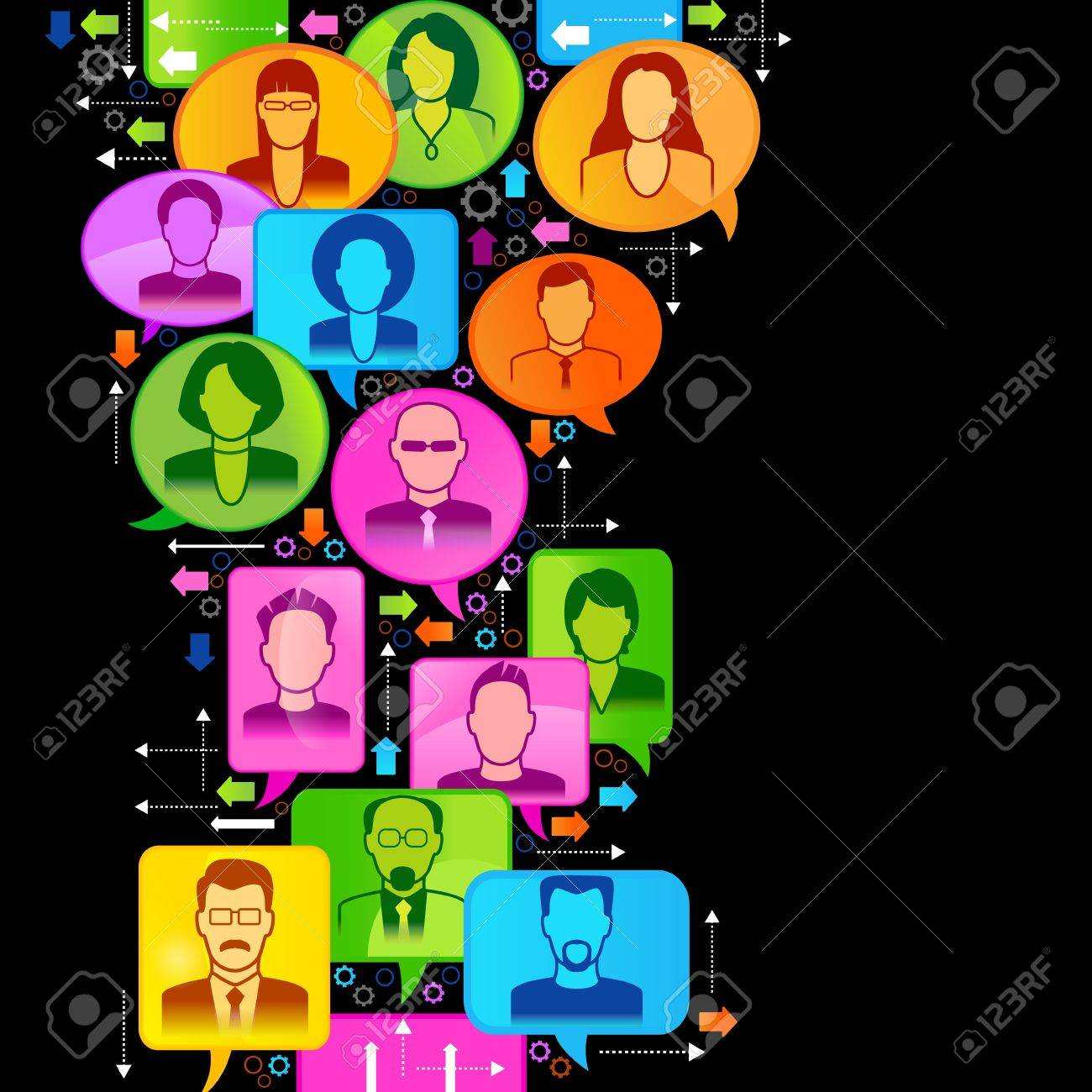 Vector illustration of the concept of people Stock Vector - 18540601