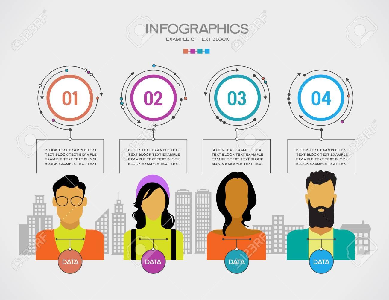 La Gente Infografica Sulla Città Con La Costruzione Il File Viene