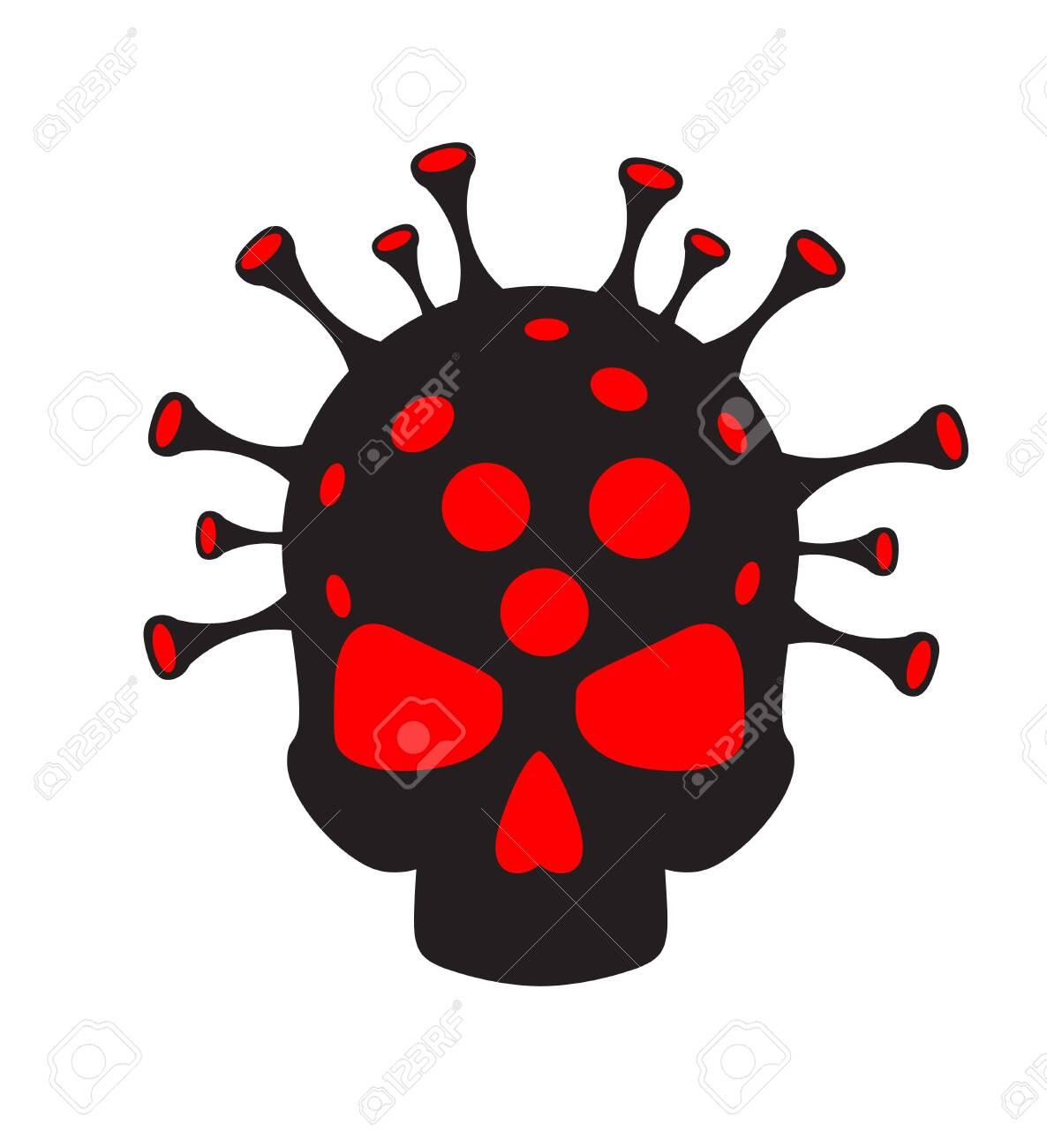 Coronavirus concept. Virus and skull. Abstract illustration - 146922048