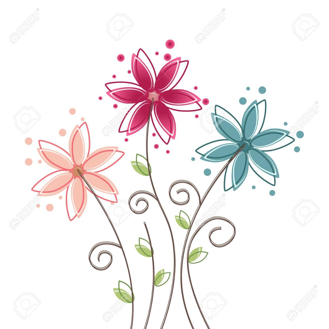 Fond De Fleur D'été Clip Art Libres De Droits , Vecteurs Et Illustration.  Image 82652203.