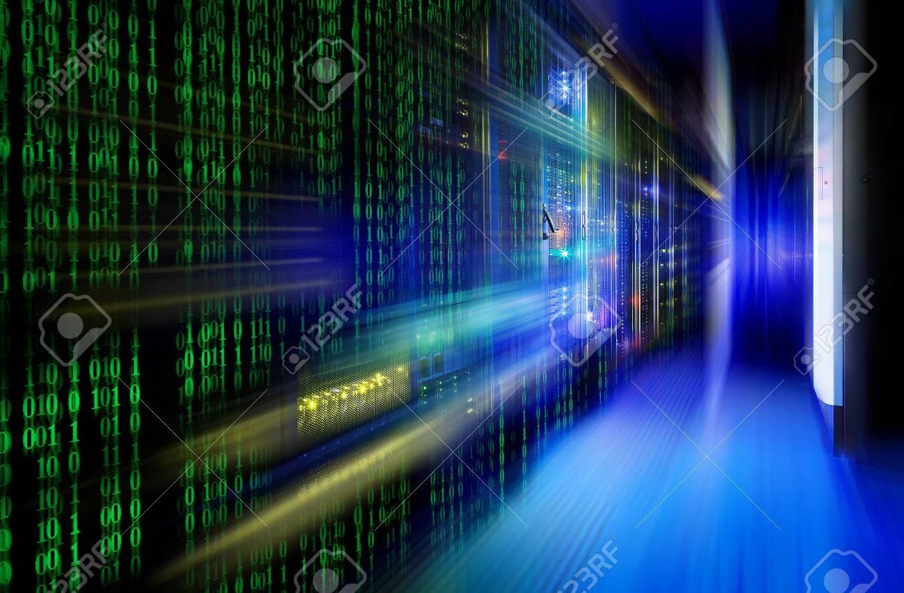 series mainframe in a futuristic representation of matrix code - 57143768