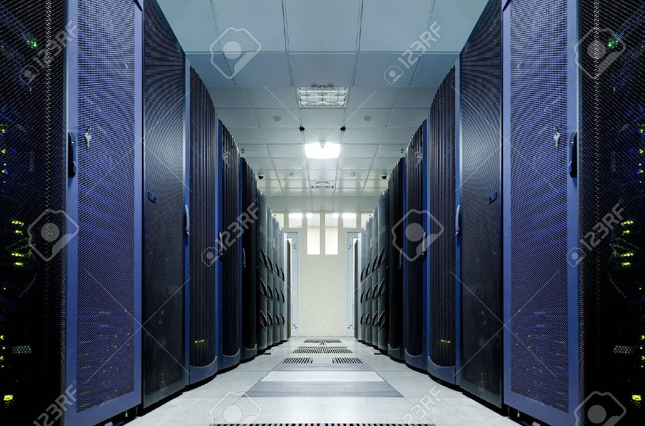 server room with modern equipment in data center - 57312127