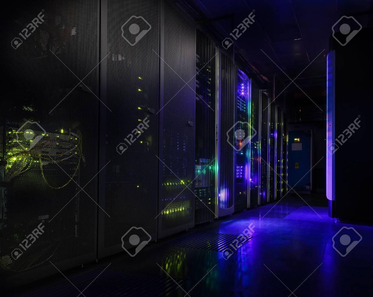 futuristic modern server room in the data center - 57562867