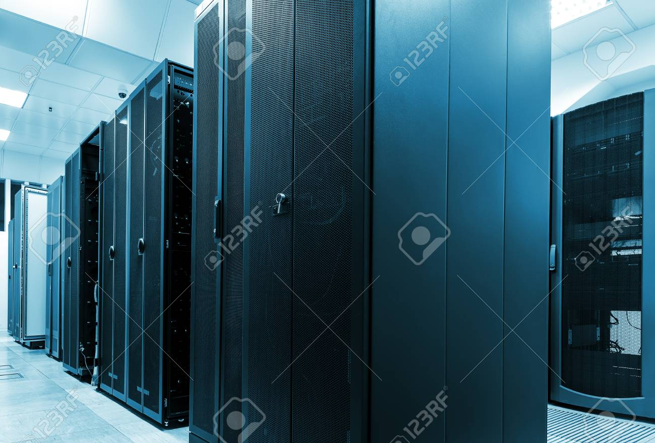 Modern web network and internet telecommunication technology, big data storage and cloud computing - 73308926