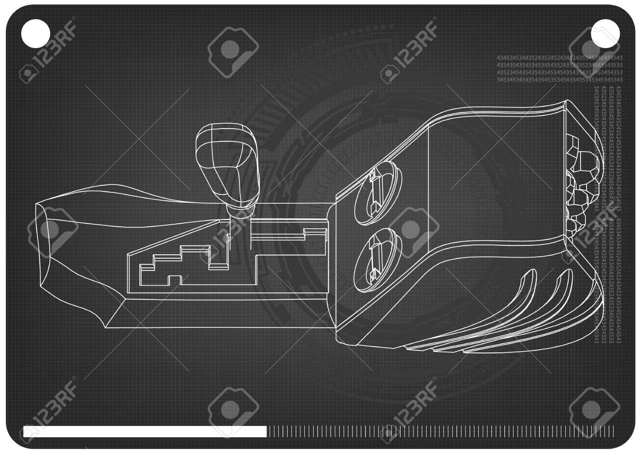 3d model of gearbox on a black background  Drawing