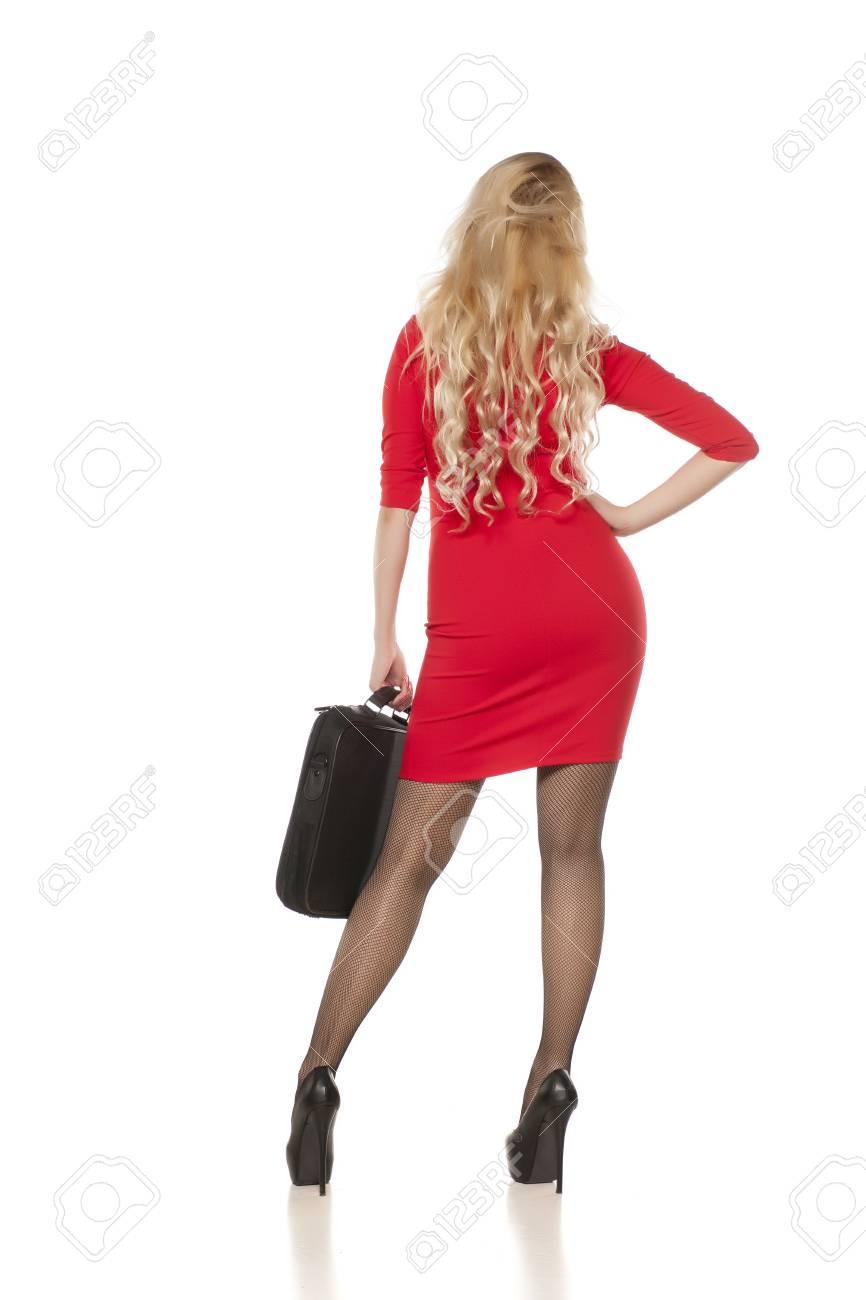 CourteBas Vue Femme Résille En Dos D'affaires D'une De Et Robe BCxoerd