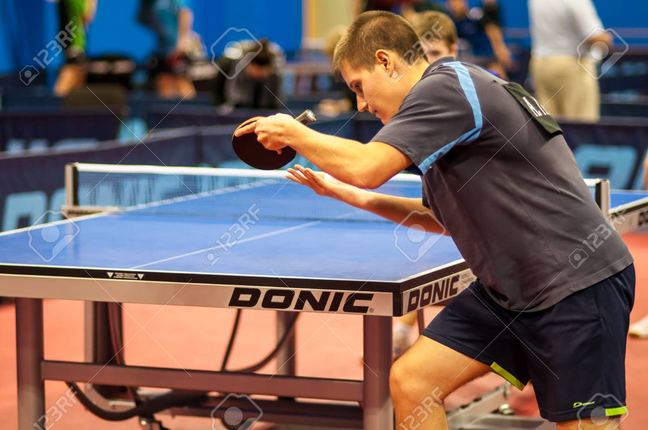 Russian table tennis tournament in memory of Victor Chernomyrdin started in Orenburg, 30.10.2013, city of Orenburg, Southern Ural, Russia - 23492980