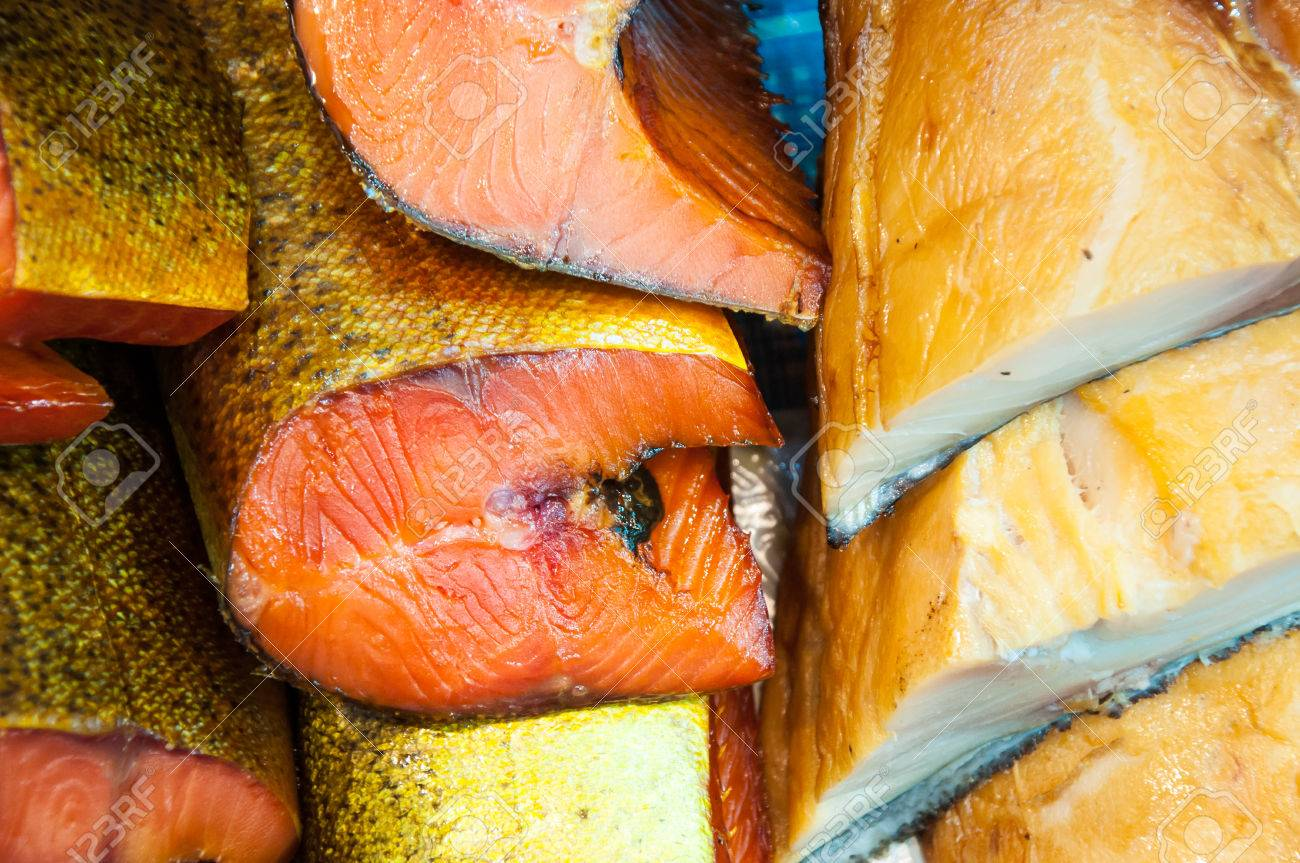 Fish assortment of smoked delicacies - 23816501