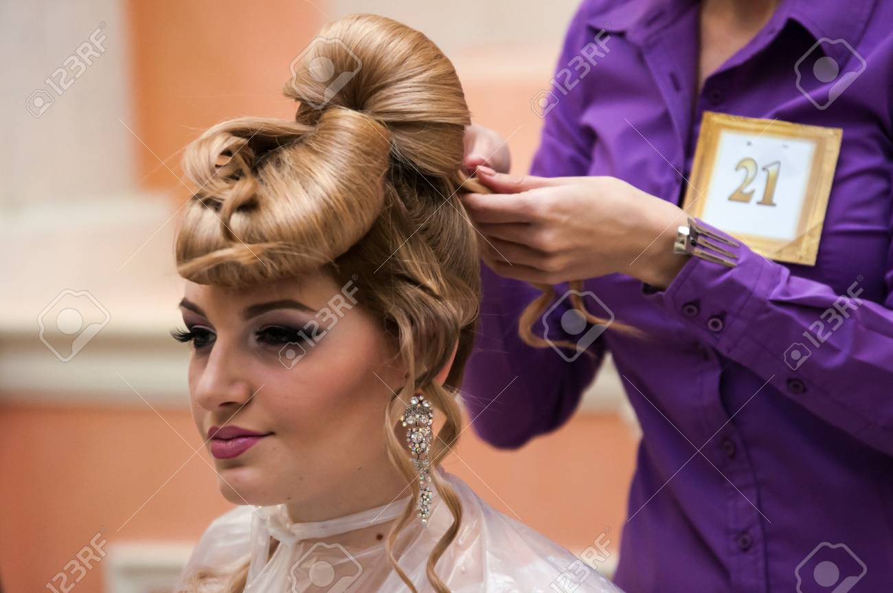 Orenburg 6 Dezember Contest Der Friseure In Der Nominierung