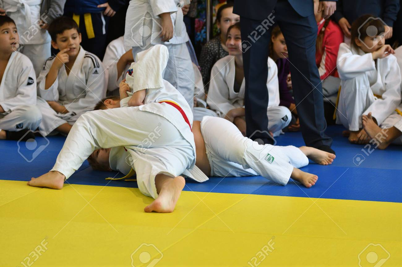 Orenburg, Russia - 05 November 2016: Boys compete in Judo on