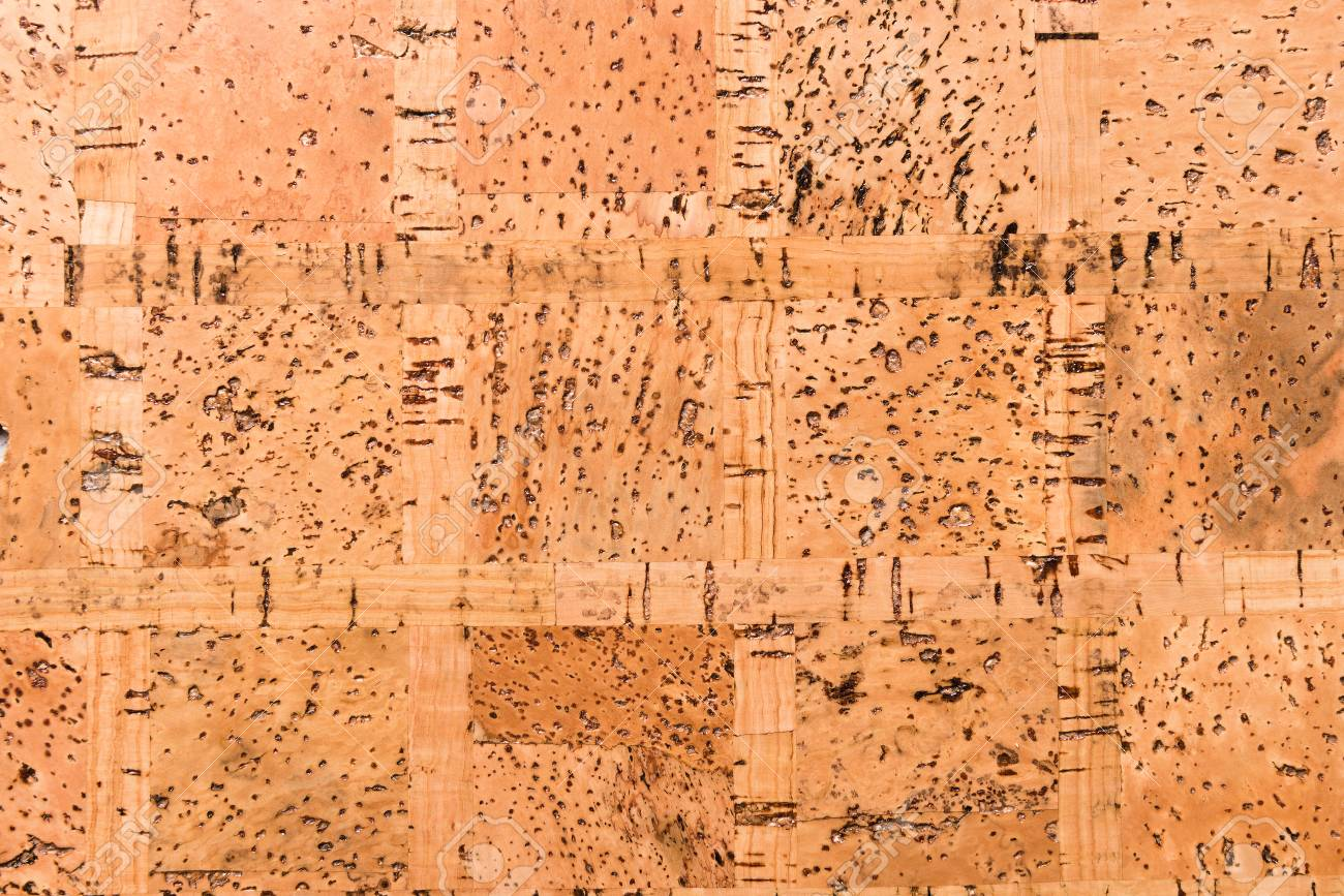 Close Up Background and Texture of Cork Board Wood Surface, Nature Product Industrial - 100534452