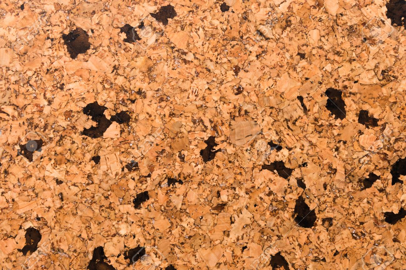 Close Up Background and Texture of Cork Board Wood Surface, Nature Product Industrial - 100534453