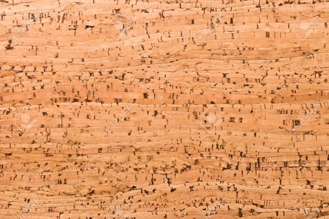 Close Up Background and Texture of Cork Board Wood Surface, Nature Product Industrial - 100534456
