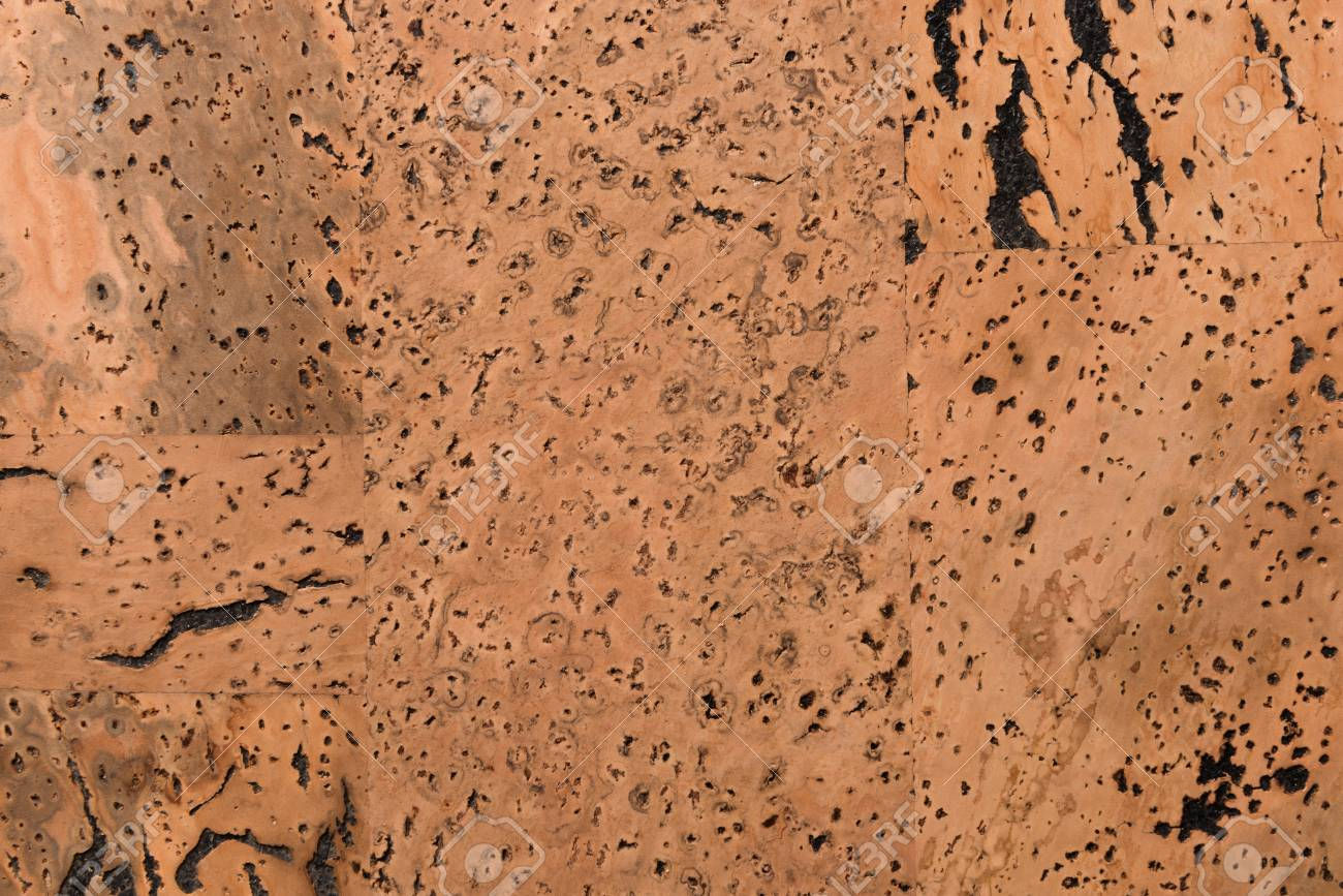 Close Up Background and Texture of Cork Board Wood Surface, Nature Product Industrial - 100534611